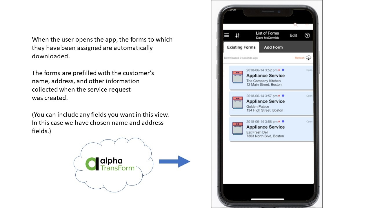 Mobile Dispatch App Forms