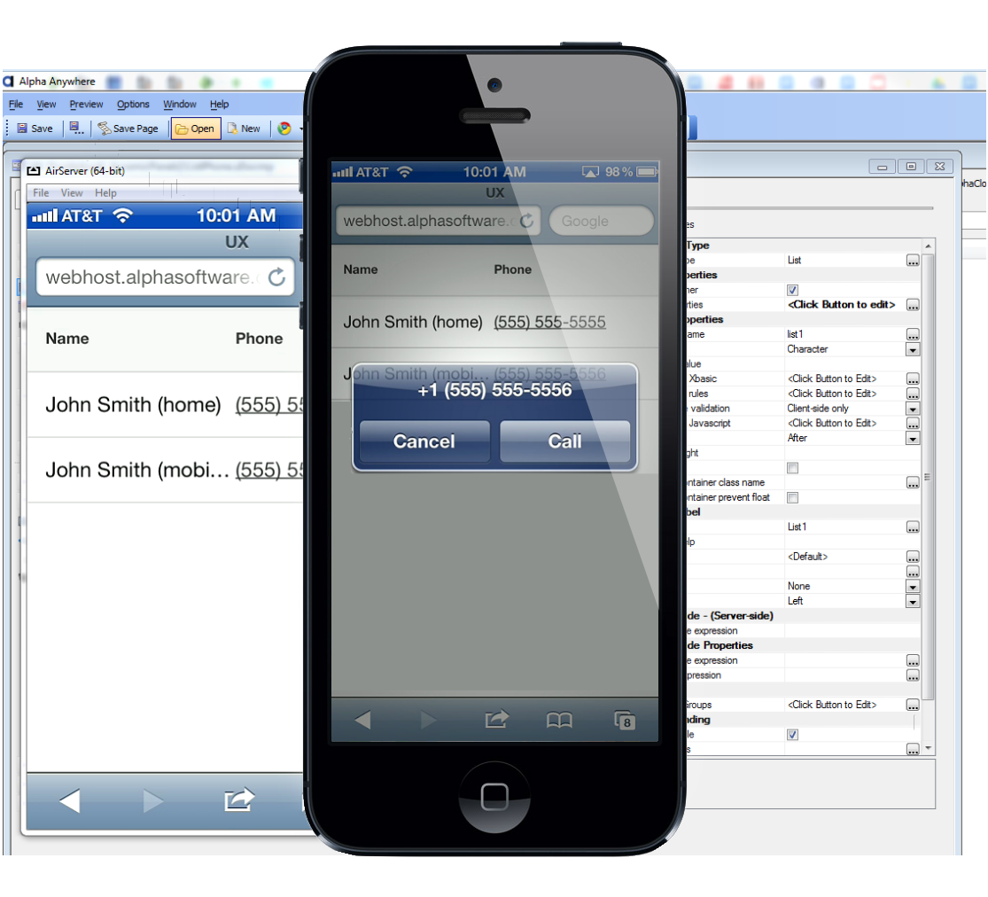 mobile dial business application