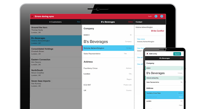Alpha Anywhere 3.0 is the industry's first mobile application development and deployment environment with robust offline support built-in - allowing offline-capable transactional business apps to be built, without adding any cost or time.