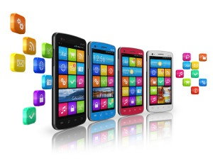 Mobile communications and social networking concept