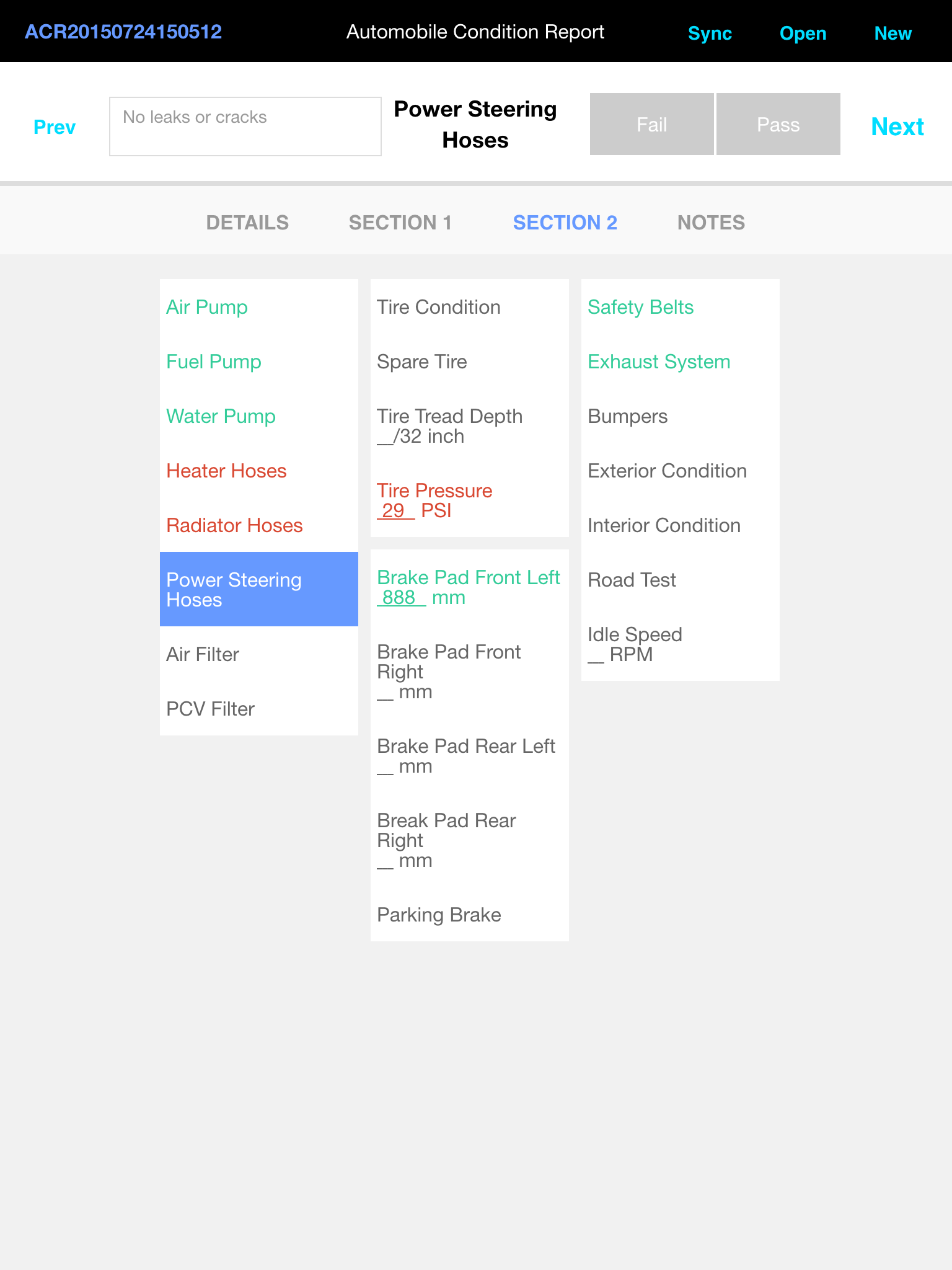 Alpha Anywhere Mobile Optimized Forms: Car Inspection Example