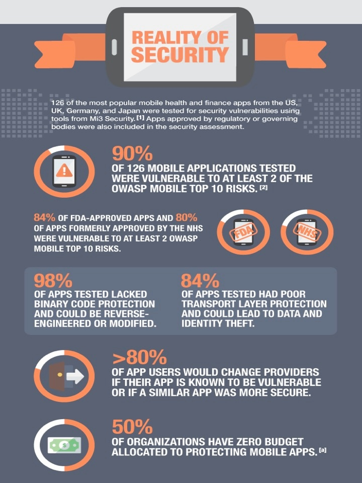 Infographic - Reality of Security (Source: Arxan)