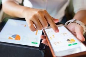 A UI designer working on mobile app design
