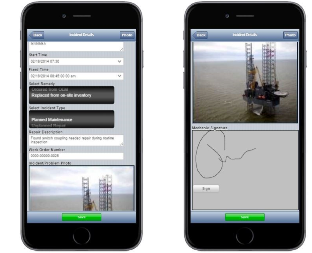 Thomas Guth used Alpha Anywhere to create a mobile maintenance and inspection app, designed for tablets and smartphones that would allow workers on the oil platform to record maintenance and inspection information, and update the database via Wi-Fi.