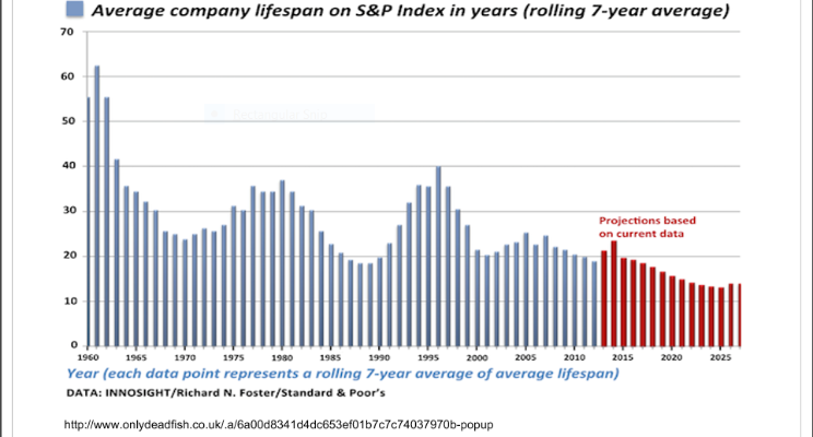 Average Company Lifespan (Source Standard & Poor's)