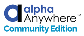Alpha Anywhere Community Edition Free App Builder