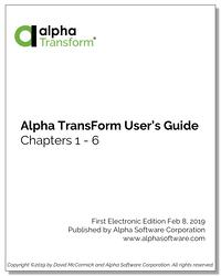 Alpha TransForm User's Guide Cover