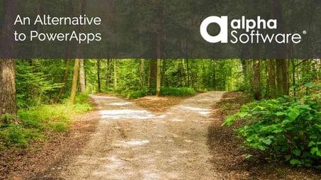 A PowerApps Alternative - Alpha Anywhere