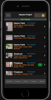 See our construction punch list app example.