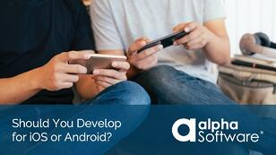 Cross platform app development builds apps for both iOS and Android devices