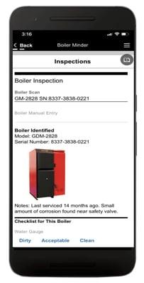 BoilerMinder App Screenshot 1