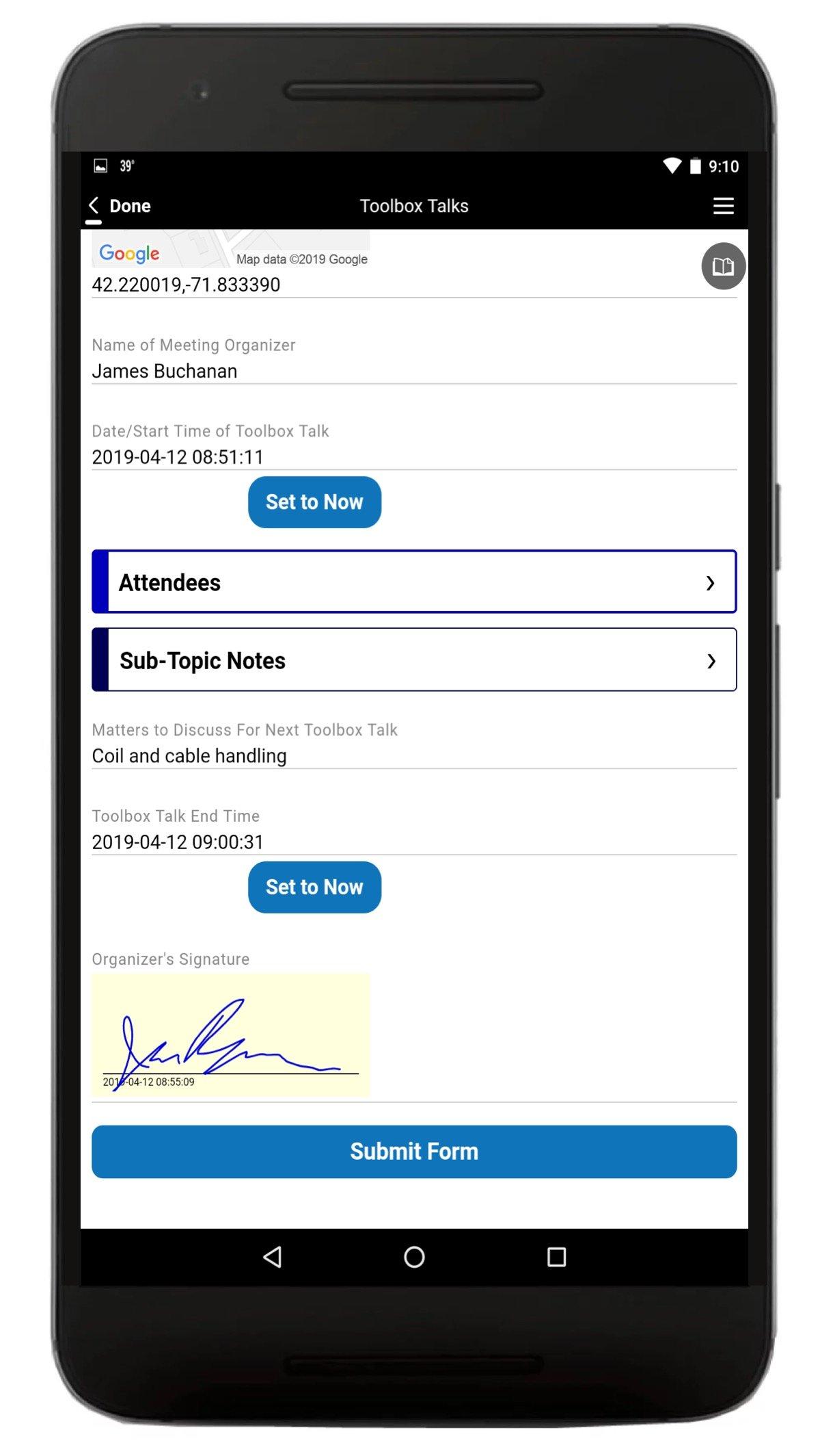 Construction Toolbox Talk App Screenshot 2