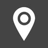 GPS Dark Square icon