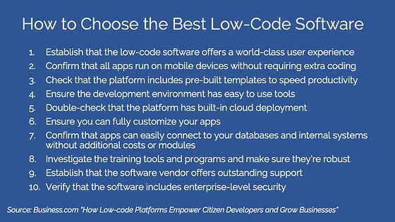How to Choose the Best Low-Code Software