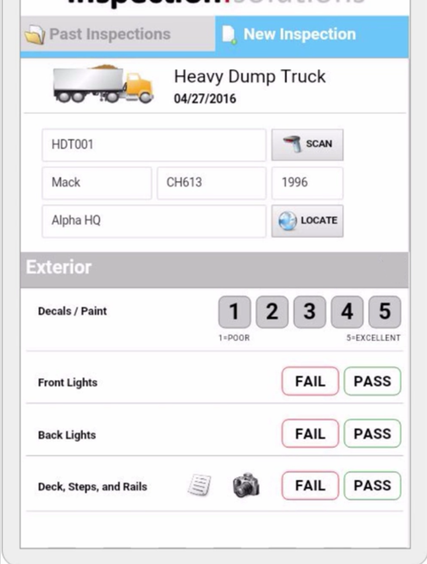 Inspection Solutions inspection app