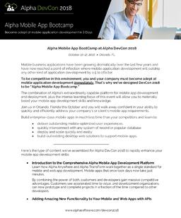 Mobile App Bootcamp Letter
