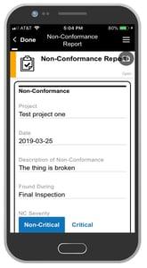 Non-Conformance Report App