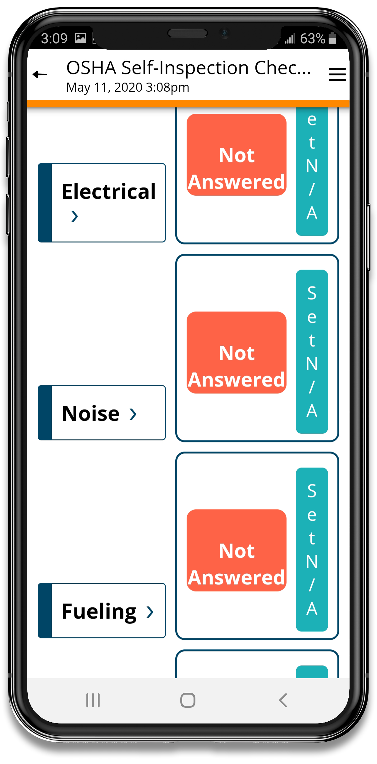 OSHA Self Inspection Checklist App