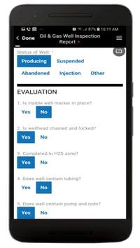 Oil Well Inspection App Screenshot 2