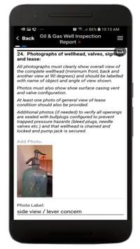 Oil Well Inspection App Screenshot 3