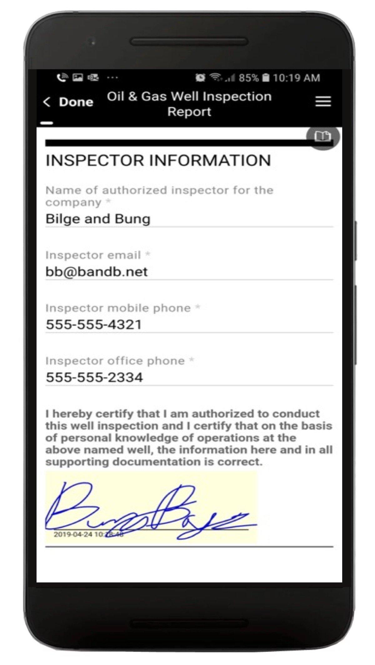 Oil Well Inspection App Screenshot 4