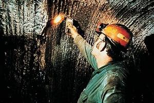 Smartphones in mines