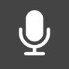 Speech to Text Audio Dark Square icon