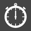 Stopwatch Dark Square icon