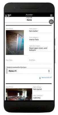 TransForm Punchlist 2 App Framed