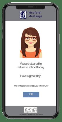 AlphaMED Covid screening app for schools