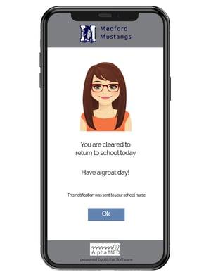 COVID-19 screening app for schools