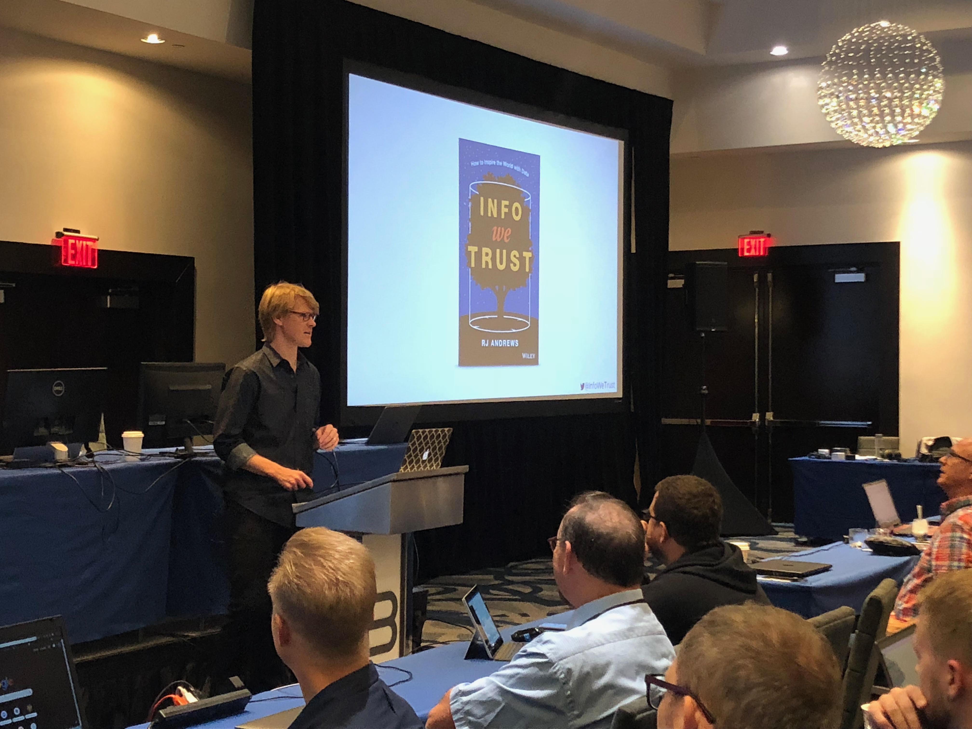 "RJ Andrews keynotes on ""The Humanization of Information"""