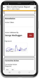 Non-Conformance Report App Template