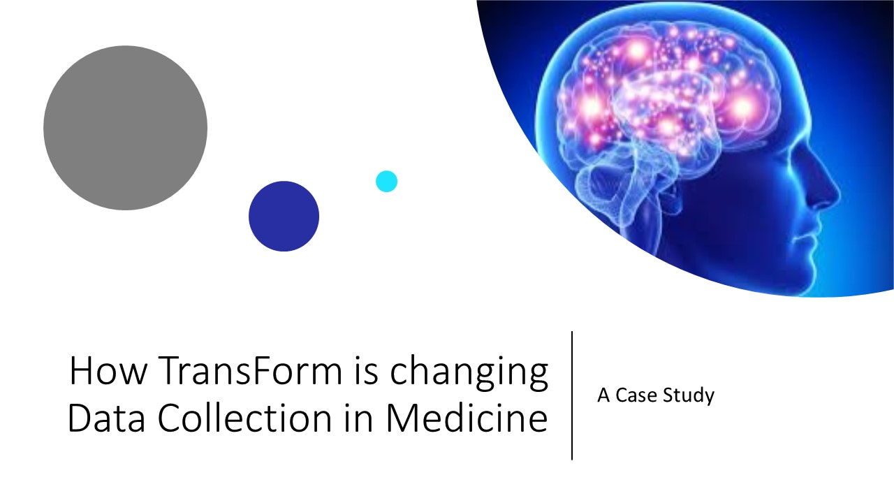 Better Medical Diagnostic and research data Capture with Alpha TransForm