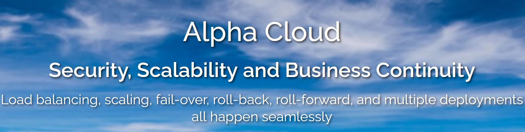 Alpha Cloud - Built with Security in Mind