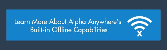 Create an offline app with HTML5 appcache, Alpha Anywhere
