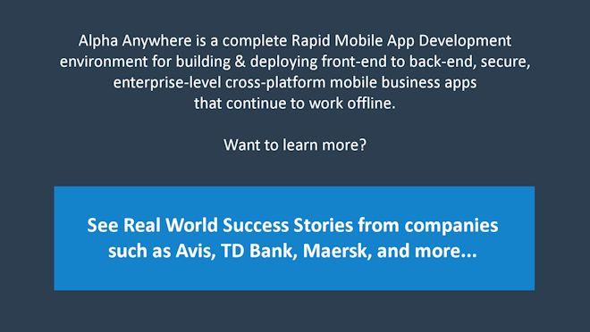 Rapid mobile app development techniques