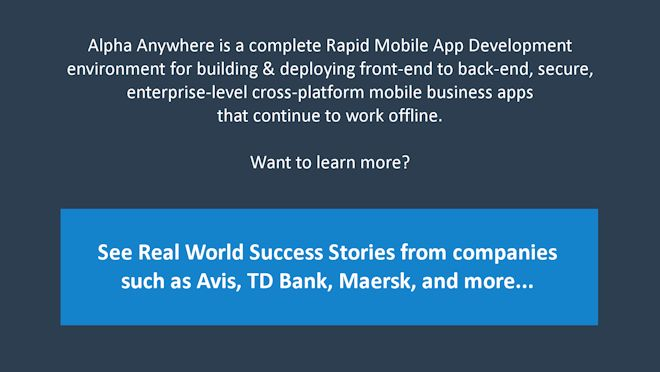 Rapid mobile app development techniques