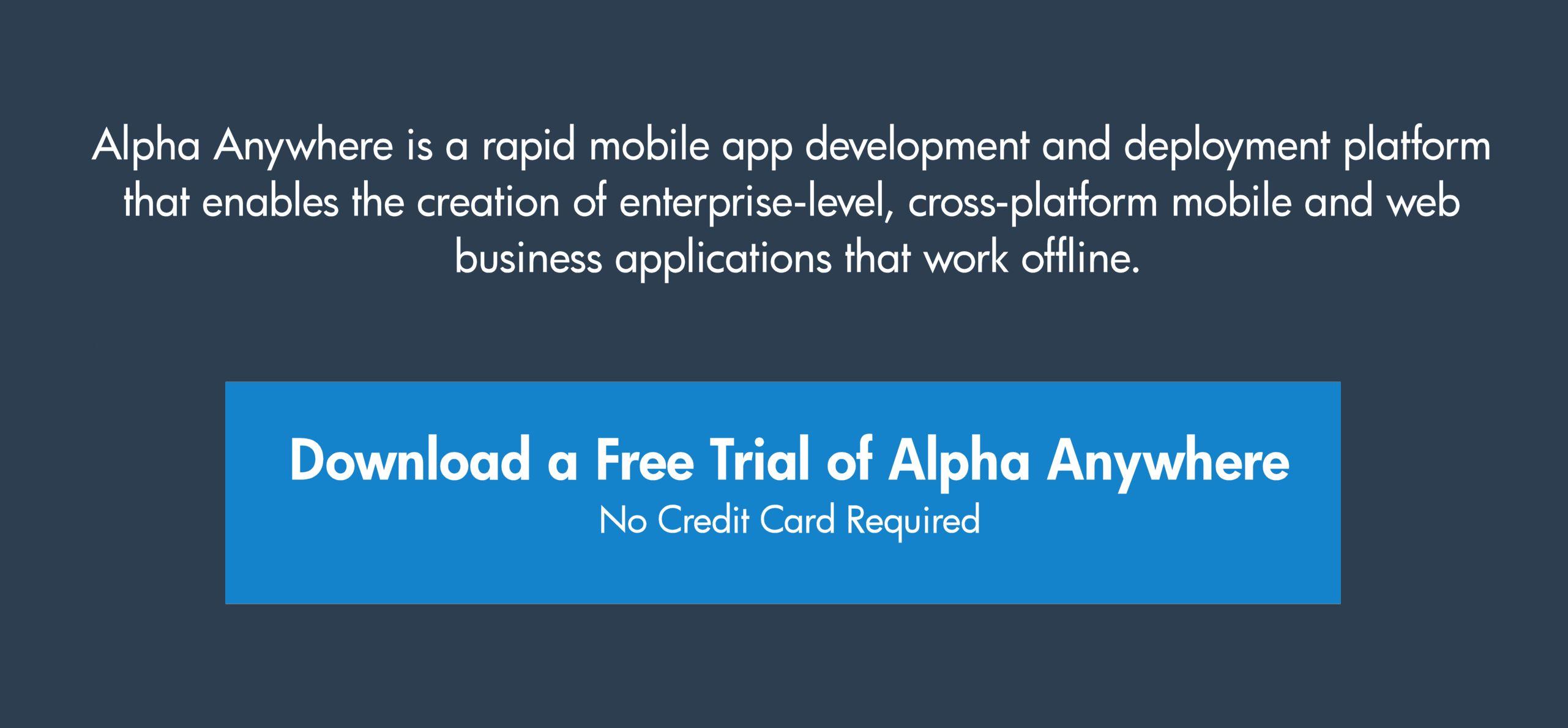 Enterprise mobile software trial