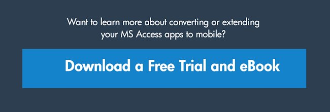 Microsoft Access mobile conversion