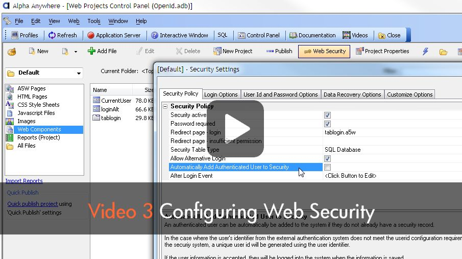 Watch Video Part 3 - Application Security Framework