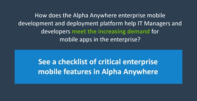 Build mobile enterprise apps
